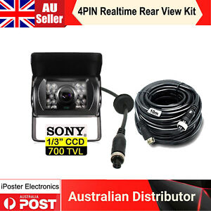 4 PIN Heavy Duty Sony CCD Sensor Rear View Camera+10M 4PIN Extension Video Cable