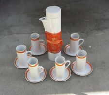 MCM Schmid Lagardo Tackett Demitasse Set Coffee Pot + 6 Cups / 6 Saucers