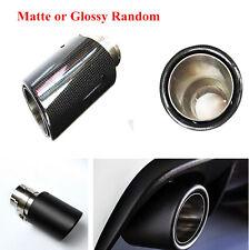 Car Carbon Fiber Stainless Steel Exhaust Muffler Pipe Tip Matte/Glossy Random