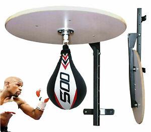 Speedball Platform Single End Punch bag Workout BoxingTraining Iron Wall Bracket