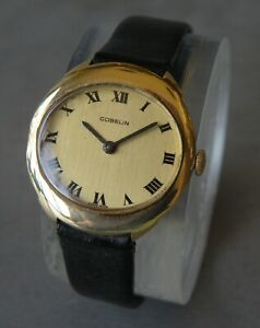 moderne LADY GUBELIN 18K YELLOW GOLD 17 JEWEL MECHANICAL WATCH  elegance subil