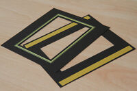 9 5x4 brown/gold self adhesive overlay/mats for Spicers/G F Smiths albums