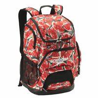Speedo Teamster Backpack Black/Red Watermelon Printed, 35L Swim bag, Swimming Ba