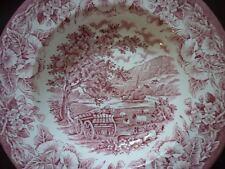 Stafford English Ironstone Red & White Rim Soup Plate Bowl Wagon several avail
