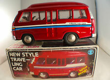 Jouet en tôle et friction bus Travelling car MF 298 made in China 20 cm MIB