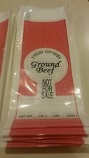 E-Z PAK Ground Beef Meat Bag 1-Pound 200 Count Ground Beef Not For Sale