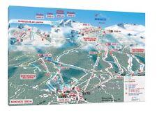 BORREGO SCI Map - 30x20 Inch canvas-Snowboard INCORNICIATO QUADRO STAMPA