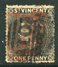 ST. VINCENT: (15762) A10 used GEORGETOWN and KINGSTOWN postmarks/cancels