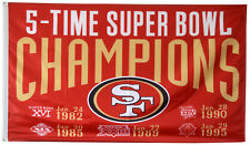 San Francisco 49ers NFL Super Bowl Championship Flag 3x5 ft