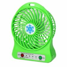 (GREEN) USB Mini Fan Rechargeable for home/ office desk, car, camping