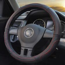 Black Steering Wheel Cover Grip Leather Look Glove For Ford Focus Fiesta