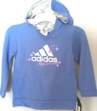 New with tags Girls Adidas FUTURE STAR Hoodie blue silver w/ hearts size sz 6X