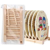 1Pc Wooden Dish Rack Kitchen Storage Drying Rack Drainer Plate Cups Stand Holder