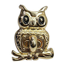 Metal Owl Shape Clasp Twist Lock Turn Lock for Bag Purse Handbag DIY Crafts