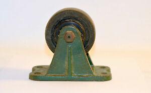 "Vintage Industrial Cast Iron Wheel Cart 3"""