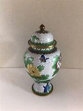 Vintage Cloisonne Temple Jar