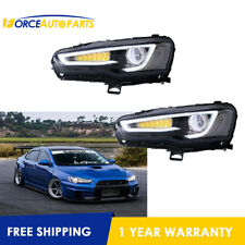 set New LED Projector Front Headlight For 2008-17 Mitsubishi Lancer / Evo X