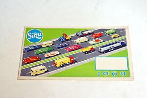 Siku Modellauto Katalog 1969  24 Seiten  11 x 20 cm geheftet