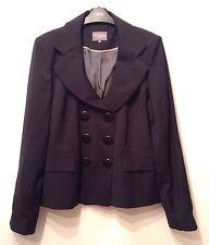 "New "" T.M. Lewin "" Size 14 Woman DB Round Collar Wool Jacket Navy(42EU)RRP £250"