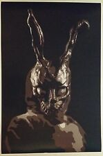 "Donnie Darko 36"" x 24"" Movie Poster Frank the Rabbit Block Print Time Travel"