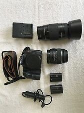 Sony Alpha SLT-A65 with two lenses