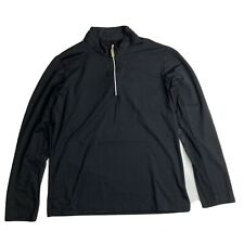 Bette Court Swing Long Sleeve 1/4 Zip Golf Shirt M Medium Black Mesh Sleeve