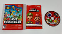 New Super Mario Bros Wii (Nintendo Wii, 2009) Complete W/ Manual Game & Inserts