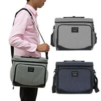 Lunch Bag for Women Men Insulated Lunch Box Shoulder Strap Large Cooler Tote Bag
