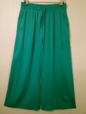 NEW Metalic Green RALPH LAUREN Wide leg/Palazzo Trousers Sz Medium-Large