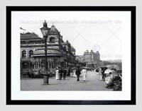 SCARBOROUGH THE SPA YORKSHIRE ENGLAND OLD BW BLACK FRAMED ART PRINT B12X822