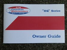 HOLDEN HQ OWNERS MANUAL INCL ''BONUS SWING TAG''   100% GUARANTEE.