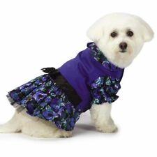 Design M Isaac Mizrahi Floral Party Dog Dress Pet Blue Black S M New
