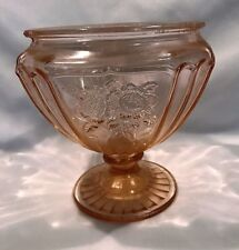 MAYFAIR OPEN ROSE FOOTED CANDY DISH NO LID HOCKING GL. 1931-37