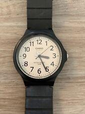 Casio Mens Mw240 Black White Dial Analog WR50m Watch
