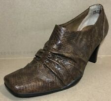 Aerosoles Women Size 6.5 B Memory Foam Ankle Booties Animal Print Ruched NWOB
