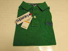 NWT AUTHENTIC SUPERDRY JAPAN SPIRIT SHORT SLEEVE  PIQUÉ POLO TEE / Size SMALL