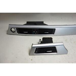 BMW E90 3-Series Late Model Dashboard Trim Pair Brushed Aluminum w Vents OE