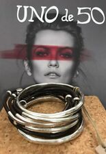 Uno De 50 Leather and Silver Bangle Bracelet - 2001 - Bestseller  NWT