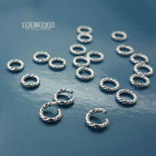 20PC Sterling Silver 18 Gauge 1mm x 5mm Twisted Open Jump Ring Connector #33112
