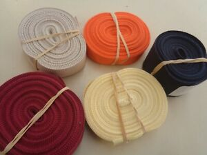 "46 yd Vtg PETERSHAM  COTTON RAYON GROSGRAIN RIBBON 5 ROLL 10 YDS 7/8""&5/8"""
