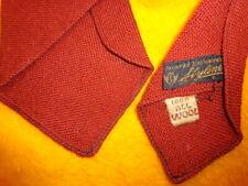 "1930s 1940s Antique Vintage Retro Styline ~Wool Mens Shirt Tie ~Rust Brown ~ 47"""