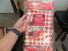 Collectible Coca Cola Tablecloth paper 00006000  New in Package 54x102 Hallmark