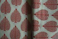 Handmade Sanganeri 3 Yards Hand Block Print Indian Natural Pure Cotton* Fabric