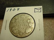 1909 - Canada - silver 50 cent coin - Canadian half dollar
