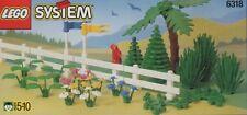LEGO TREES & FENCES 6318 Set Classic Town City park fruit pine plants flower lot