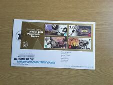 GB TALLENTS PMK FDC 2012 WELCOME TO PARALYMPIC GAMES MINIATURE SHEET
