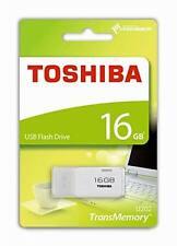 16GB Toshiba USB 2.0 flash drive Memory stick U202 White 16Gig - THN-U202W0160E4