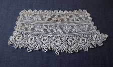 ANTIQUE VICTORIAN IRISH CROCHET LACE FLOWERS CUFFS FOR BRIDE BLOUSE DRESS  7879m
