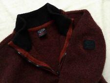 Men's Paul & Shark Half ZIP Wool Sweater/Jumper size L (in fact S/M) MINT