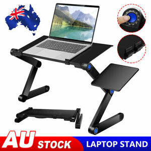 New Portable Laptop Stand Desk Table Foldable Adjustable Sofa Bed Mouse Pad Tray